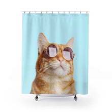Load image into Gallery viewer, Cat Rules Shower Curtains