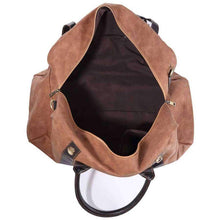Load image into Gallery viewer, Large Camel Duffel Bag