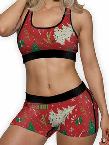 Christmas Wrap Boy Shorts