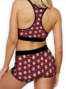 Christmas Snowflakes Sports Bra