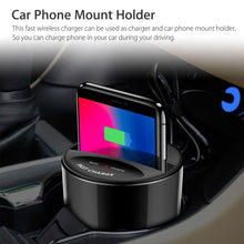 Load image into Gallery viewer, Wireless Car Charger Cup Holder