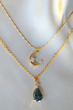 Load image into Gallery viewer, Moon Layered Necklace 18 Karats gold Plated