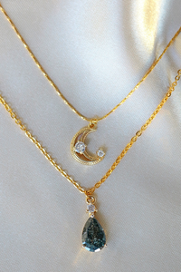 Moon Layered Necklace 18 Karats gold Plated