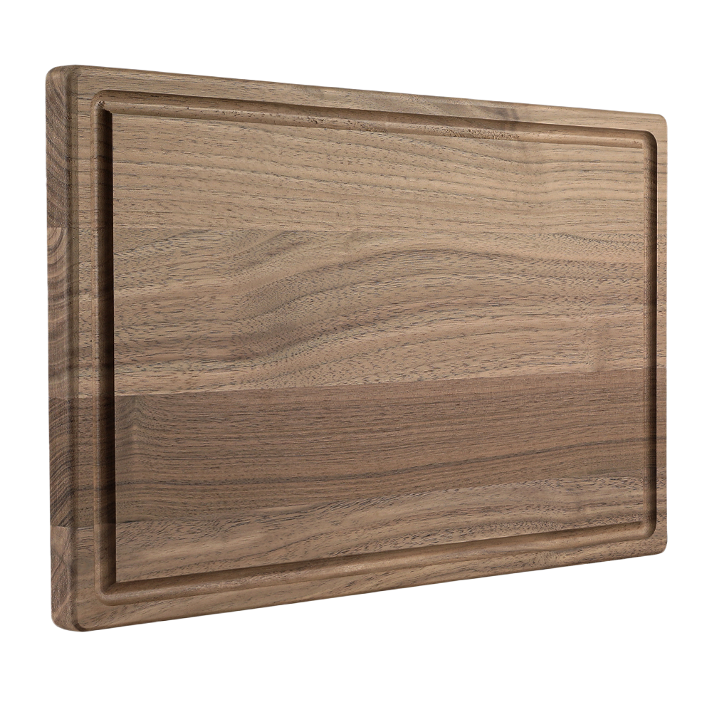 Walnut Wood Cutting Board with Juice Groove (9