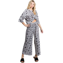 Load image into Gallery viewer, Star Print Cotton Loungewear Set, Grey