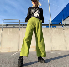 Load image into Gallery viewer, Metal chain  loose High Waisted Pants