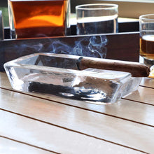 Load image into Gallery viewer, Cigar Ashtray Handmade Crystal