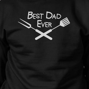 Best BBQ Dad Black Sweatshirt