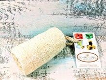 "Load image into Gallery viewer, Organic Natural 4"" Loofah, vegan"