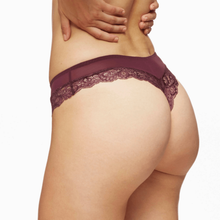 Load image into Gallery viewer, Lace Trim Thong Panty