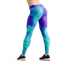 Load image into Gallery viewer, Beverly Teal Liquid Leggings