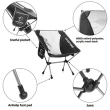 Load image into Gallery viewer, Portable Collapsible Moon Chair Fishing Camping BBQ Stool Folding