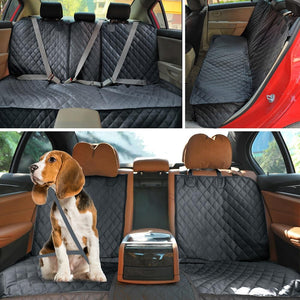 Back Seat Cover For Pets, Waterproof & Shake Clean with armrest