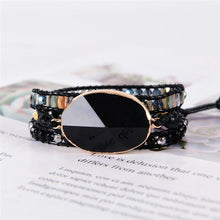 Load image into Gallery viewer, Bracelet Natural Black Onyx