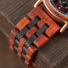 Load image into Gallery viewer, Woody Blue Chronograph Quartz Watche