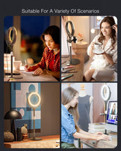 Load image into Gallery viewer, Dimmable  Light Ring  with Phone Holder