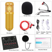 Load image into Gallery viewer, BM 800 Studio Condenser Microphone V8 Audio USB Headset Microphone