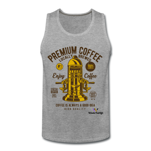 Coffee tank Top - heather gray