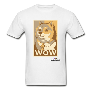 Hanes Doge Coin Tagless T-Shirt - white