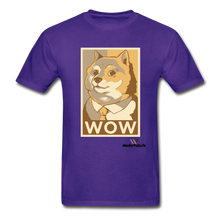 Load image into Gallery viewer, Hanes Doge Coin Tagless T-Shirt - purple