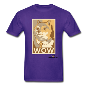 Hanes Doge Coin Tagless T-Shirt - purple