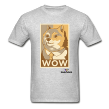 Load image into Gallery viewer, Hanes Doge Coin Tagless T-Shirt - heather gray