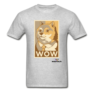 Hanes Doge Coin Tagless T-Shirt - heather gray