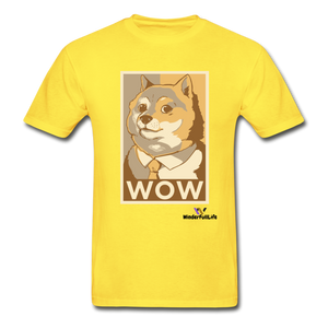 Hanes Doge Coin Tagless T-Shirt - yellow