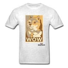 Load image into Gallery viewer, Hanes Doge Coin Tagless T-Shirt - light heather gray