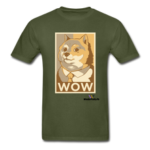 Load image into Gallery viewer, Hanes Doge Coin Tagless T-Shirt - military green