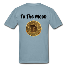 Load image into Gallery viewer, Hanes Doge Coin Tagless T-Shirt - stonewash blue