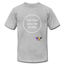 Load image into Gallery viewer, $1000 T-shirt - heather gray