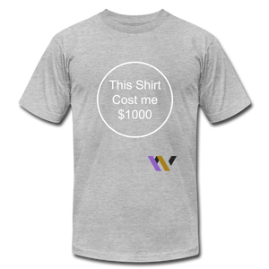 $1000 T-shirt - heather gray