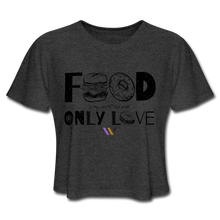 Load image into Gallery viewer, Food is my secret real and only love T-Shirt - deep heather