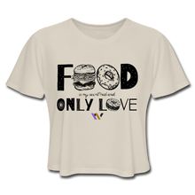 Load image into Gallery viewer, Food is my secret real and only love T-Shirt - dust