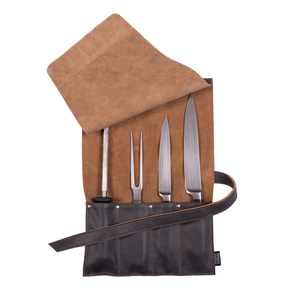 """The Knife Pouch"" - 4 sloth Knife Roll Bag"