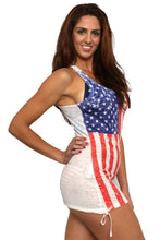 Load image into Gallery viewer, Women's USA Distressed Flag Tank