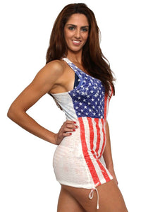 Women's USA Distressed Flag Tank
