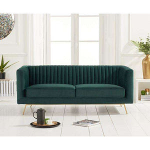 Furnish Our Home:Mark Harris Danielle Green Velvet 2 Seater Sofa