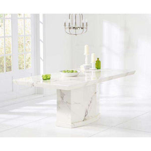 Furnish Our Home:Mark Harris Como 200cm Marble Dining Table - White
