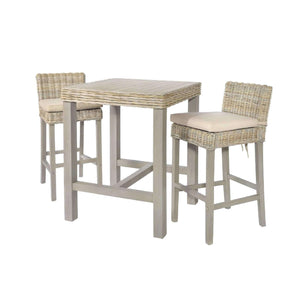Furnish Our Home:Beco Living Mei Rattan - Grey Wash Bar Table