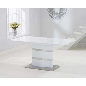 Furnish Our Home:Mark Harris Springfield High Gloss 160 White Table