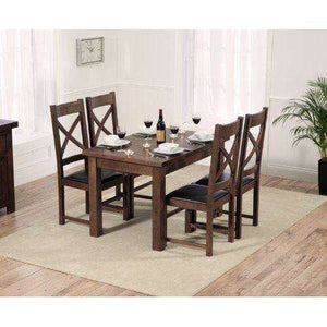 Furnish Our Home:Mark Harris  Rustique Dark 150cm Extending Dining Table