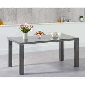 Furnish Our Home:Mark Harris Ava 160cm Dark Grey High Gloss Dining Table