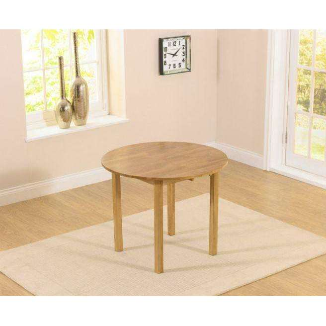 Mark Harris Promo Round Drop Leaf Extending Dining Table 75-92cm