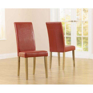 Furnish Our Home:Mark Harris Atlanta Red Pu Dining Chair (Pair)