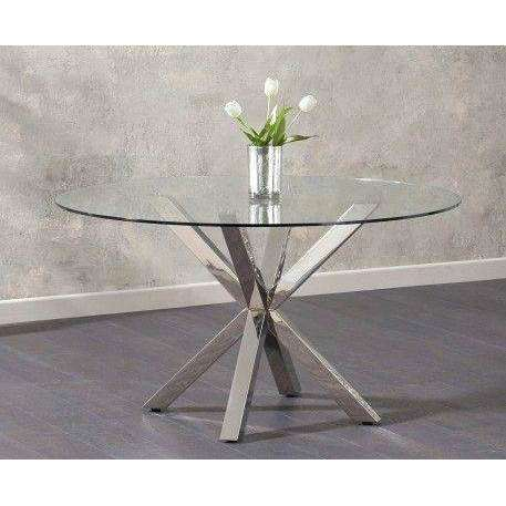 Mark Harris Remus Round Glass Dining Table