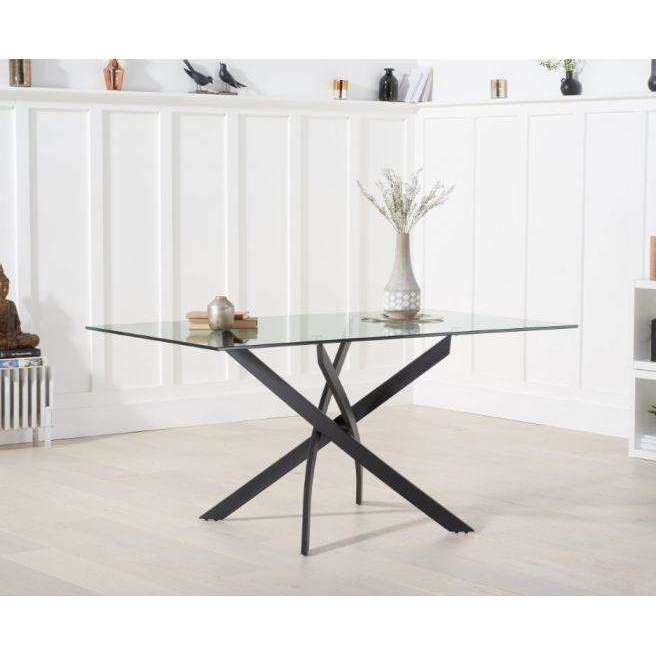 Mark Harris Marina 160cm Glass Dining Table