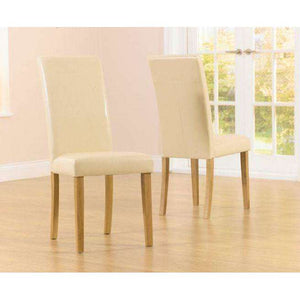 Furnish Our Home:Mark Harris Atlanta Cream Pu Dining Chair (Pair)