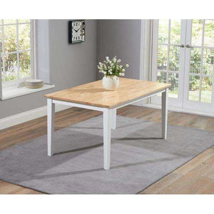 Furnish Our Home:Mark Harris Chichester Oak & White Dining Table 150cm